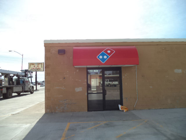 Domino Pizza Awning Sign
