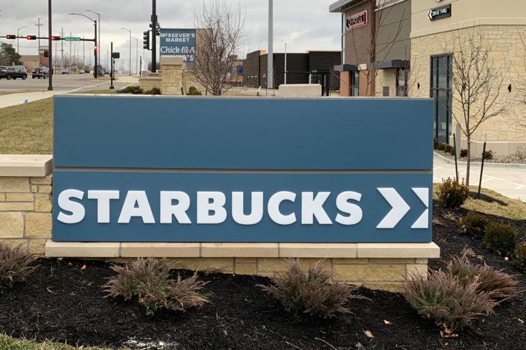 Starbucks Monument Signs