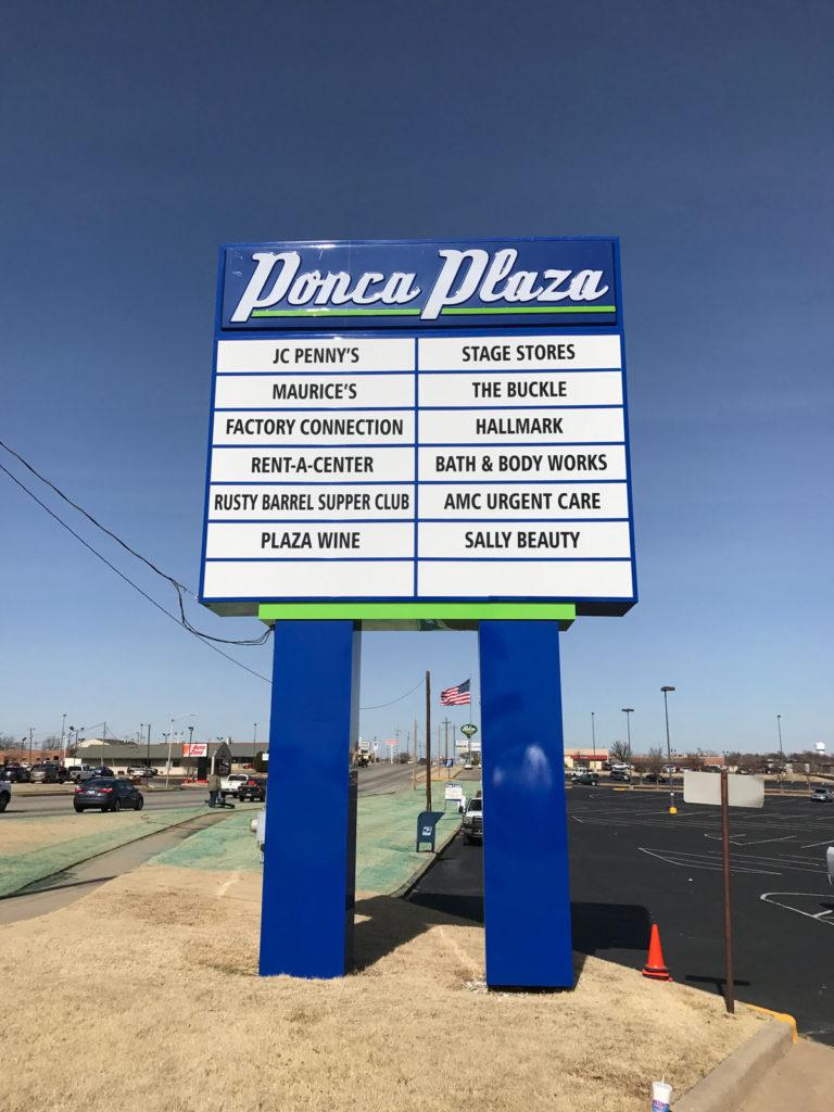 Ponca Plaza Pole Signs