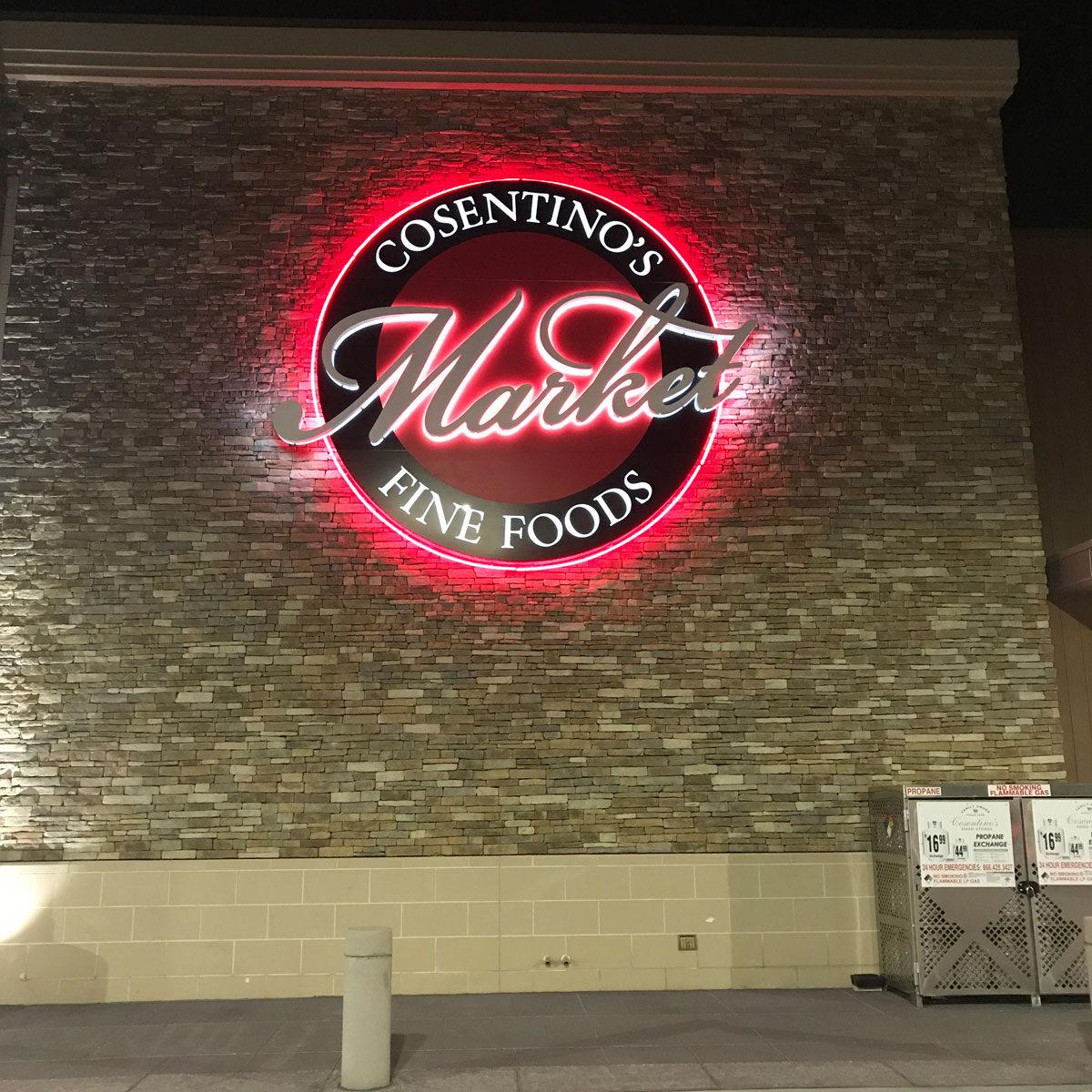 Cosentinio's Market Fine foods Neon Sign