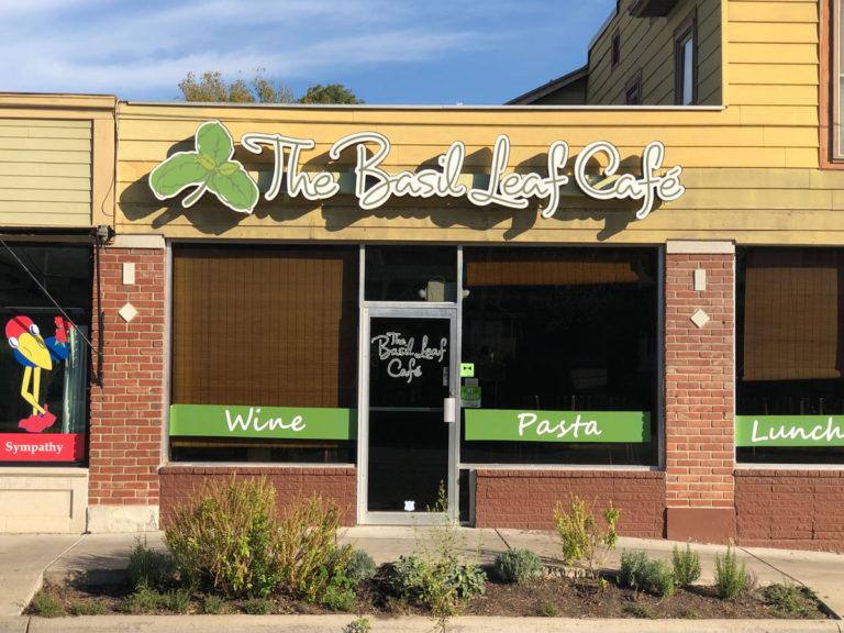 The Basuk Leaf Cafe Channel Letters