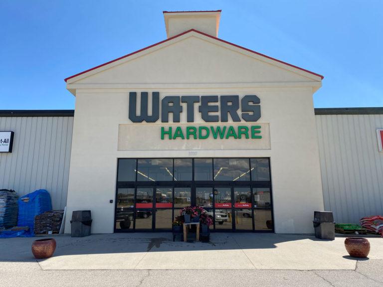 Waters Hardware Channel Letters