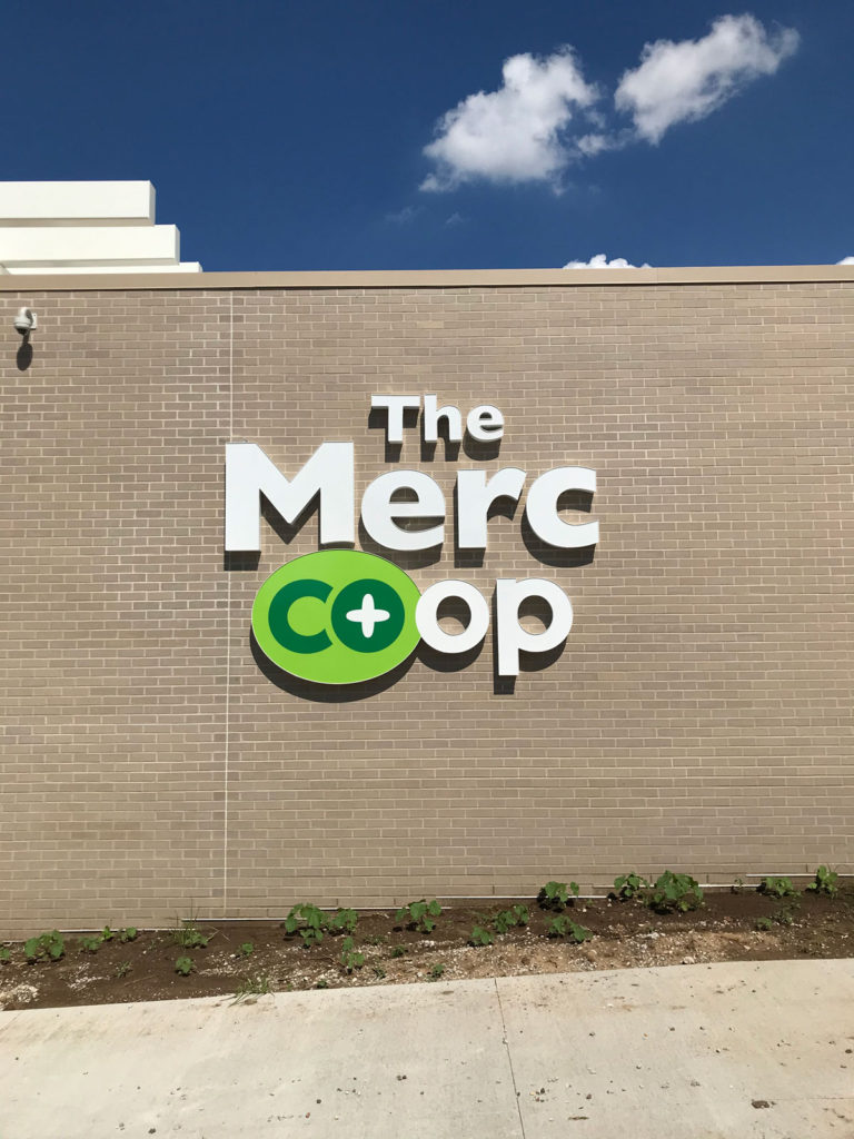 The Merc coop Channel Letters