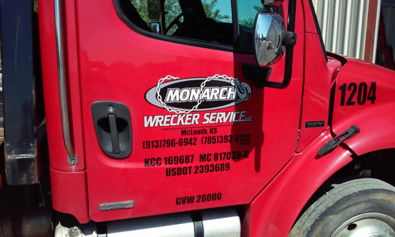 Monarch Wrecker Service Vehicle Wraps