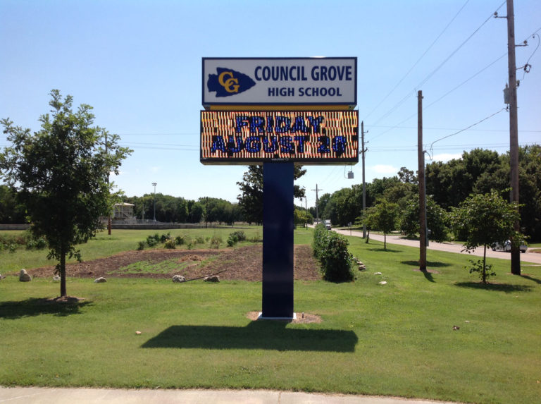 Council Grove Hign School LED Signs